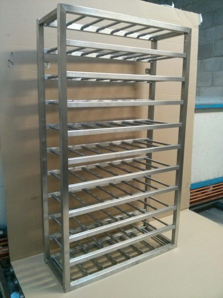 precision sheet metal work wine rack